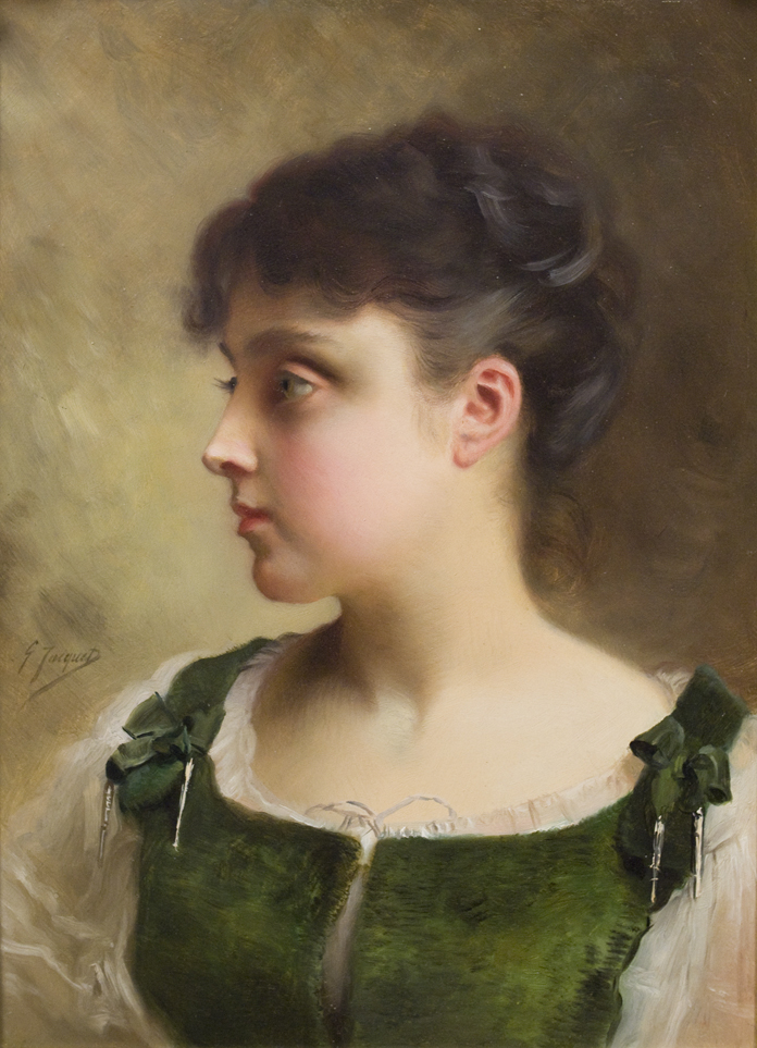 Gustave Jean Jacquet – A Young Girl – Palm Beach Art, Antique ...
