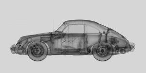 1959-Porsche-356B-Coupe-metal-1959-Porsche-356B-Coupe-Ed.-of-250-fine-art-print-on-aluminium-50x60cm