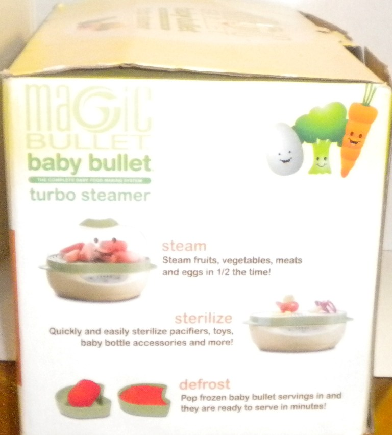 Magic Bullet Baby Bullet Turbo Steamer 8 Piece Set Steams