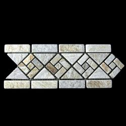 Gold Quartz Pinwheel Shape Border