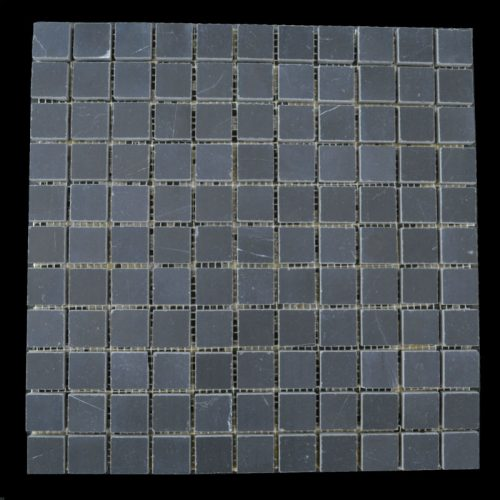 "Honed Beijing Nero Mosaic 1""x1"""