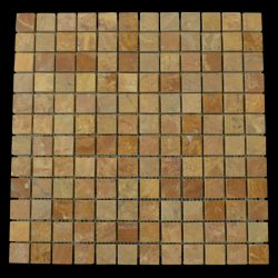 "Honed Copper Gold Mosaic 7/8""x7/8"""
