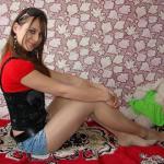 Cutie In Pantyhose & Short Shorts