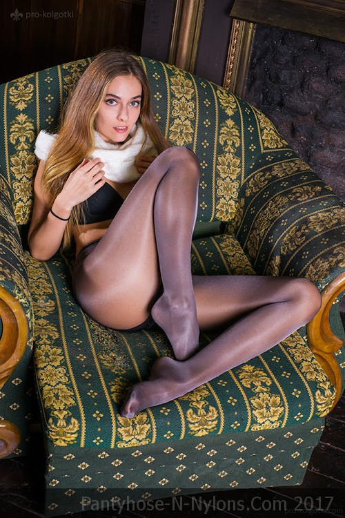Great Legs In Glossy Tights