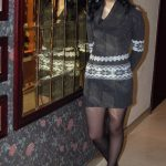 Beautiful Asian Teen In Black Tights