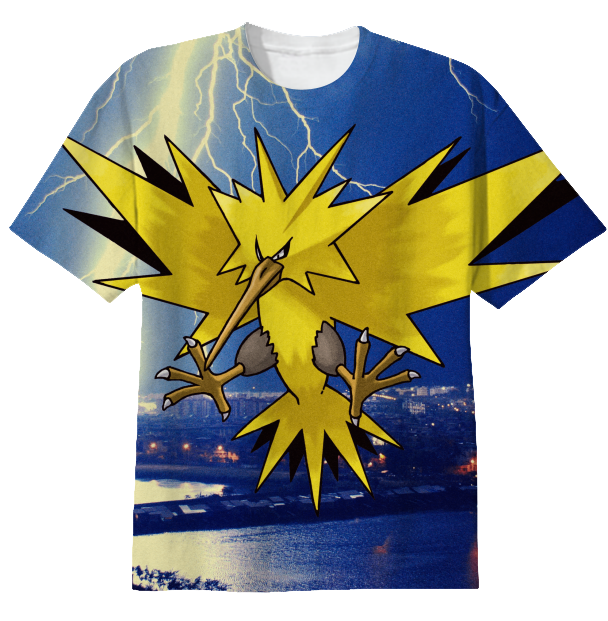 shop zapdos shirt cotton t shirt by I was getting