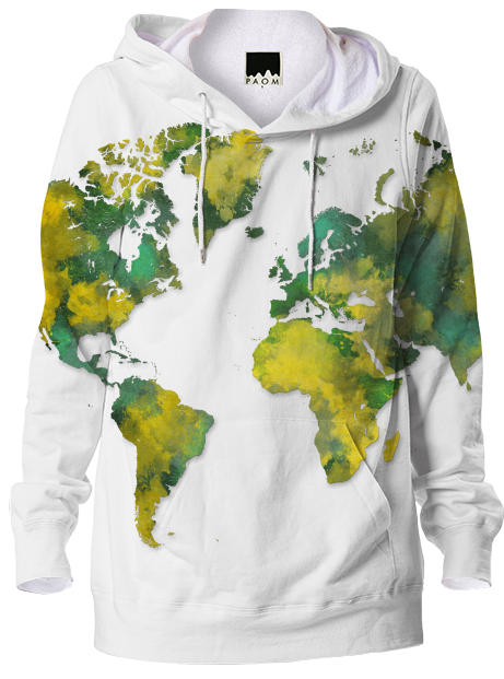 Shop world map hoodie hoodie by jbjart print all over me gumiabroncs Images