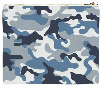 Shop Blue And White Army Camo Pattern Clutch By ARTPICS Print All Custom Camo Pattern