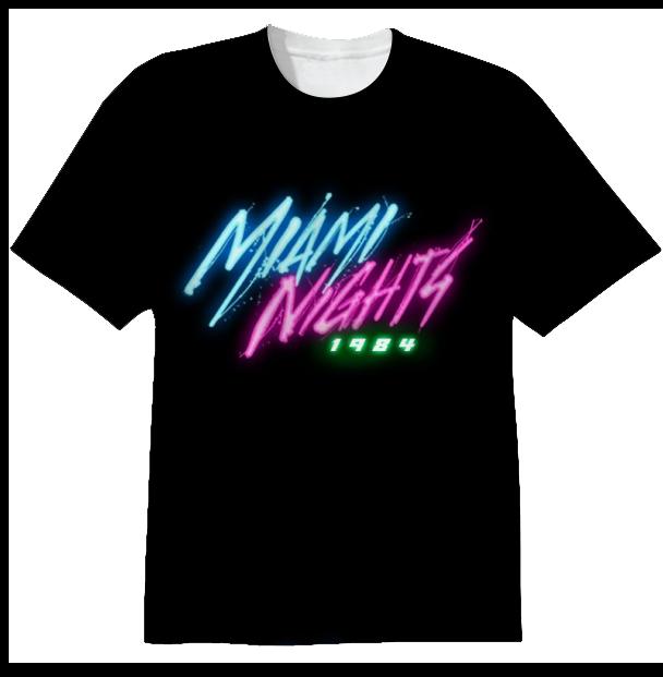 Shop Miami Nights 1984 Cotton T Shirt By Miamihotline
