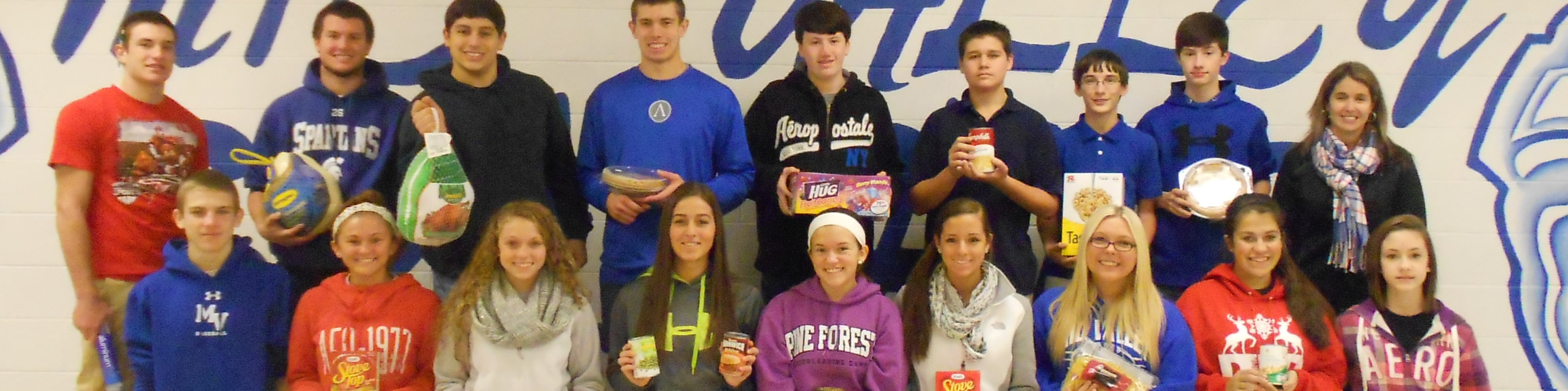 2013 Mid Valley Secondary School Thanksgiving Food Drive