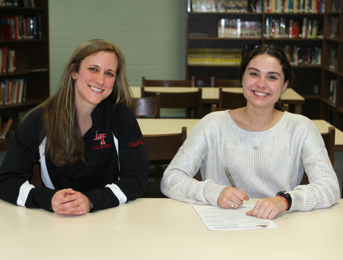 Shelby Croasdale signing letter on intent for Kutztown (2) (1)