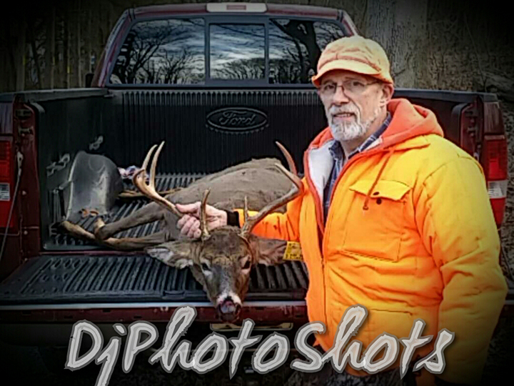 Dennis P. Got this Beauty at 0720am on the 1st day. He wasn't going to go due to upcoming bi-lateral knee surgery and his son Dennis Jr. talked him into it to bag this awesome buck early morning on the 1st opening day of rifle. Thanks for the chance to win. Good Luck Everyone.
