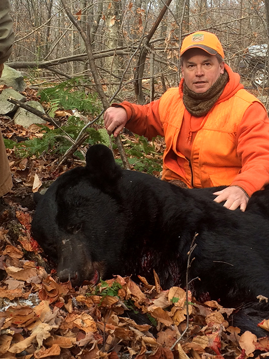 John G. 629 lb. bear (estimated live weight) I harvested this year on Tuesday November 24th in Greene Twp. Pike County.