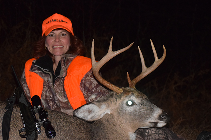 Lisa S. Harvested this 7pt buck at 40yds in Sullivan county using her Ruger 7mm 08 the first Friday of 2015 gun season.
