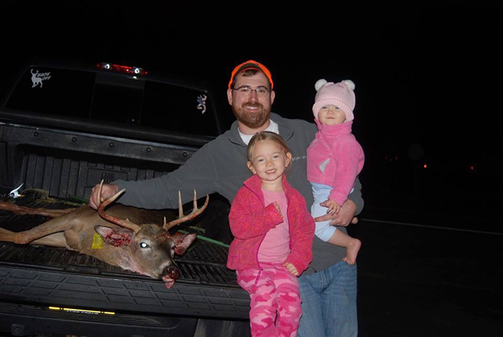 """Paul S. Shot this 7 pt on the first Friday 12/4. 16"""" spread. Taken in Red Rock PA."""