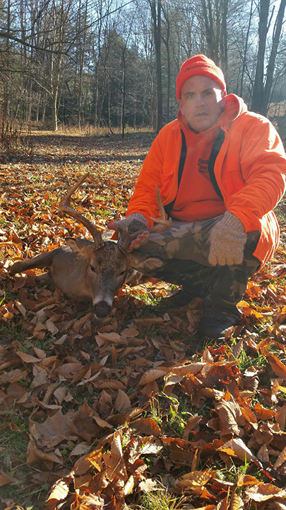 Sam T. This is a seven point buck that was taken in Benton Township, PA on the first day of rifle season in 2015.