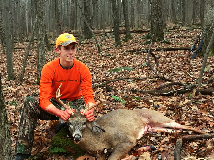 Wade G. Harvested this 9 pointer in Wayne County, PA on December 4, 2015 while hunting with my dad and my brother.