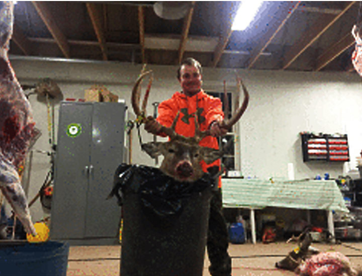 Zack L. From Laceyville. 8 point buck with a 21 1/2 spread. First day of the rifle season 2015
