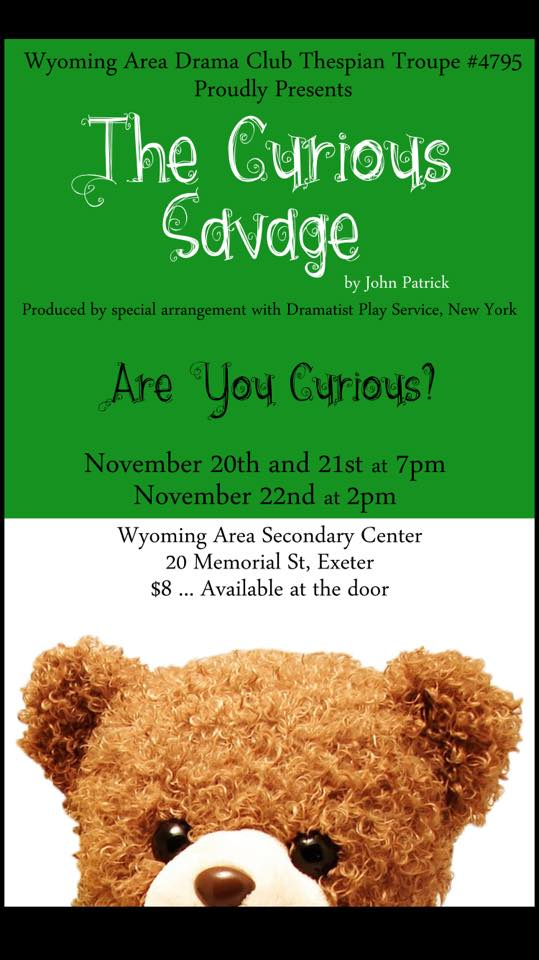 POSTER FOR WYOMING AREA CURIOUS SAVAGE (2)