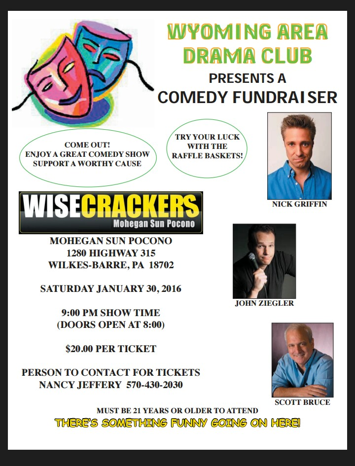 wyoming area comedy club fundraiser