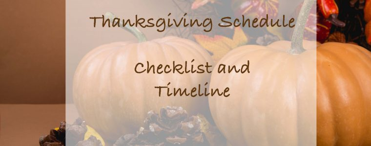 Thanksgiving Timeline and Checklist free printable