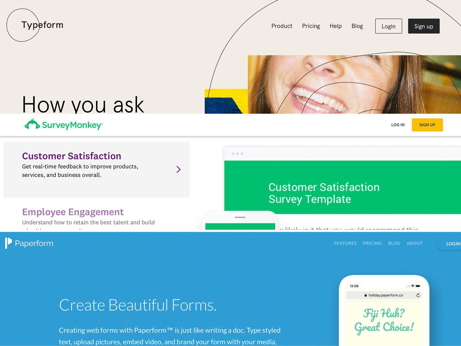 Typeform Alternatives: Typeform vs SurveyMonkey vs Paperform