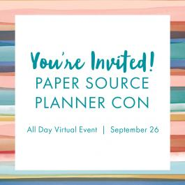 Paper Source Planner Con