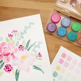 Virtual Workshop: Watercolor Florals
