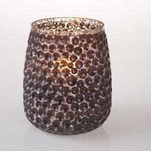 Kynttilälyhty pilkut musta 11x15 cm
