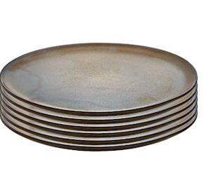 Raw Aamiaislautanen Metallic Brown 6 kpl 23 cm