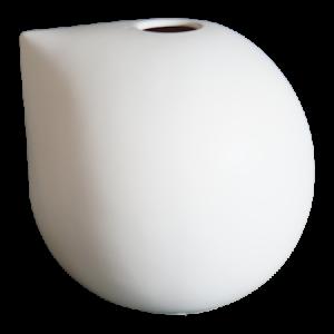 Nib Maljakko 20 cm Keramiikka Valkoinen
