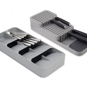 DrawerStore 2 pk Large Cutlery & Knife Organizer Set