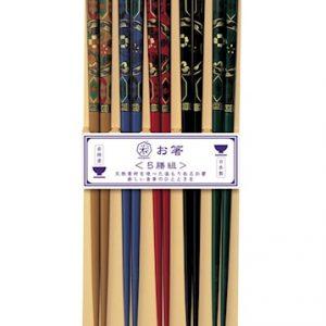 Kutani Syömäpuikot 5 Paria Japanilaisella koristelulla