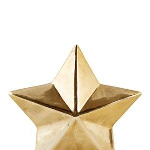 Koriste-esine Tähti Kulta 12x12 cm