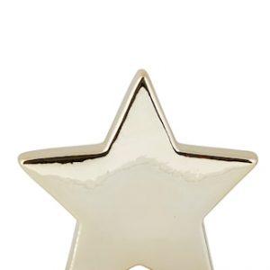 Koriste-esine Tähti Kulta 14 cm
