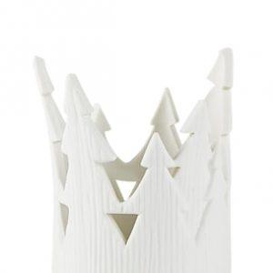 Lämpökynttilän pidike valkoinen Posliini 7,5x9,5 cm
