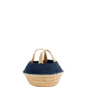 Kori kahvalla Ø 25 cm - Sininen/natur