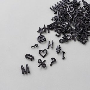 424 pcs. letters/numbers/signs, Black,
