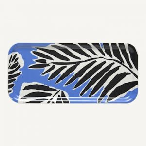Babassu Tarjotin 15 x 32 cm Musta/Sininen/Valkoinen