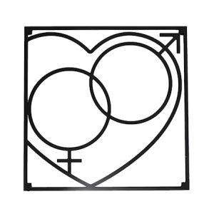 Love Collection QM Love Pannunalunen 18 x 18 cm Musta