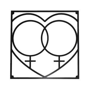 Love collection QQ Love Pannunalunen 18 x 18 cm Musta