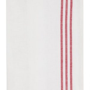 Keittiöpyyhe puolipuuvilla 2-pack Punainen/Valkoinen