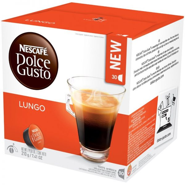 """Kahvikapselit """"Lungo"""" 30kpl - 42% alennus"""