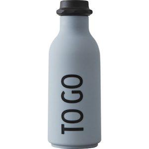 Design Letters Vesipullo 'To Go' Harmaa