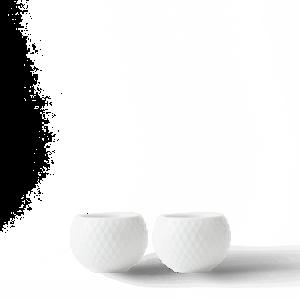 Rhombe Kynttilälyhty Ø6,5 cm Valkoinen Posliini 2-pack