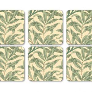 Willow Bough Lasinalunen 6 kpl 10,5 x 10,5 cm Vihreä