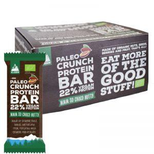 """Laatikollinen Luomu Proteiinipatukoita """"Raw Cacao"""" 12 x 48g - 40% alennus"""