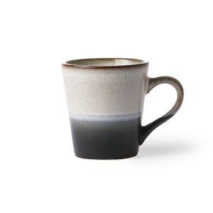 70's Espressokuppi Musta ja Valkoinen 80 ml