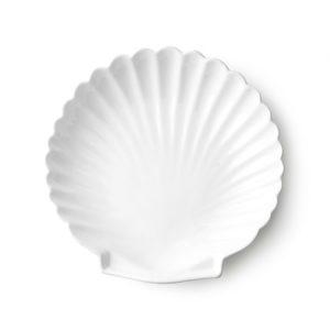 Athena Ceramics Shell Tarjotin Valkoinen L