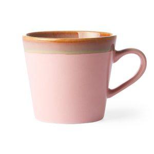 Ceramic 70's Cappuccino Muki Pinkki